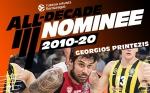 Υποψήφιος για την ομάδα της δεκαετίας στην Ευρωλίγκα ο Πρίντεζης